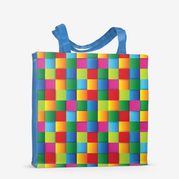 Сумка-шоппер «Яркие квадраты»