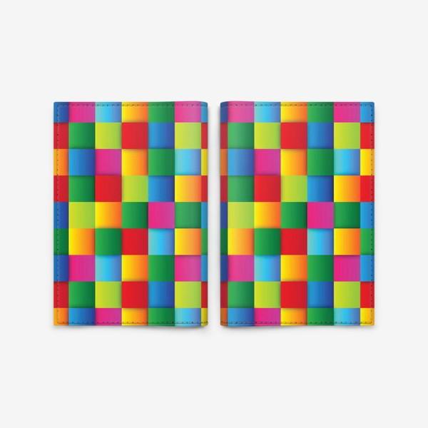 Обложка для паспорта «Яркие квадраты»