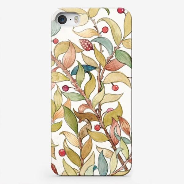 Чехол iPhone «Декоративный узор из веток»