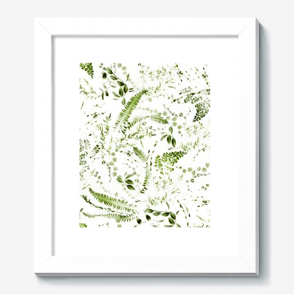 Картина «Зеленый растительный микс. Папоротники»