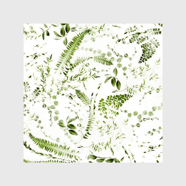 Шторы «Зеленый растительный микс. Папоротники»