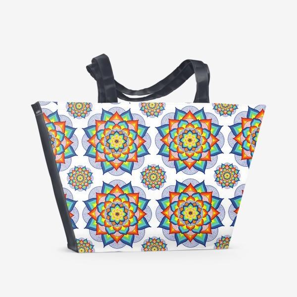 Пляжная сумка «Счастливая мандала»