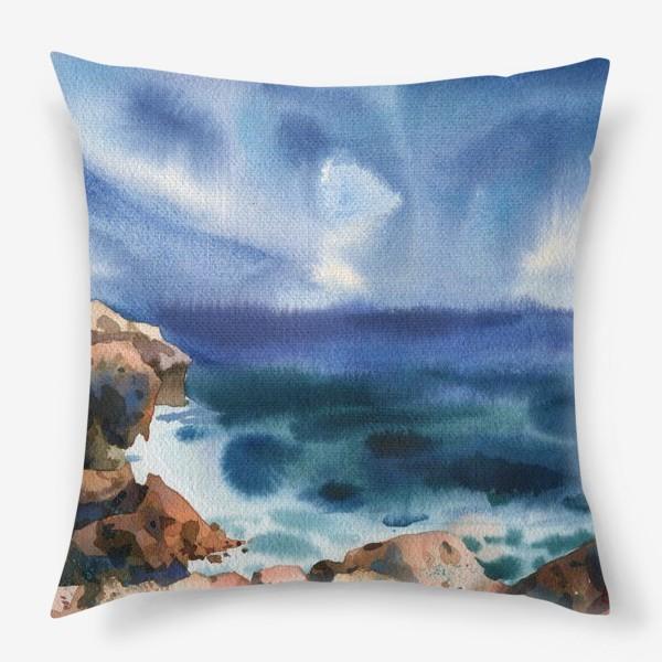 Подушка «Только шум моря »