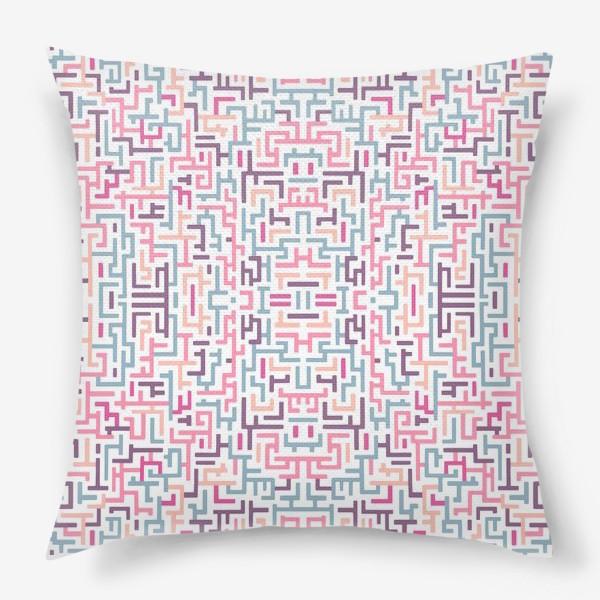 Подушка «Цветной лабиринт/паттерн»