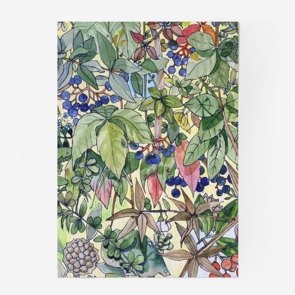 Постер «Тропическая листва. Орнамент»