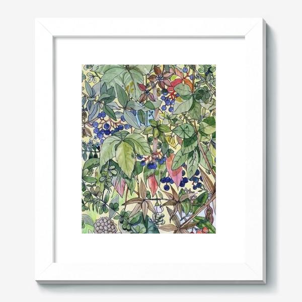 Картина «Тропическая листва. Орнамент»