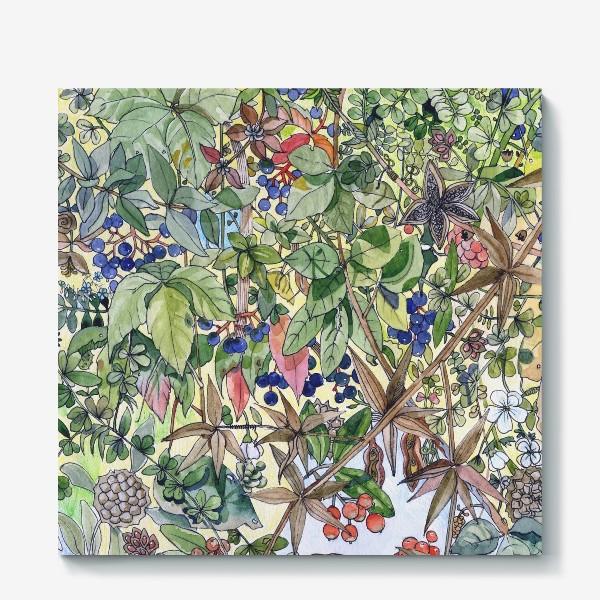 Холст «Тропическая листва. Орнамент»