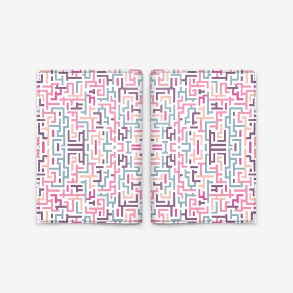 Обложка для паспорта «Цветной лабиринт/паттерн»