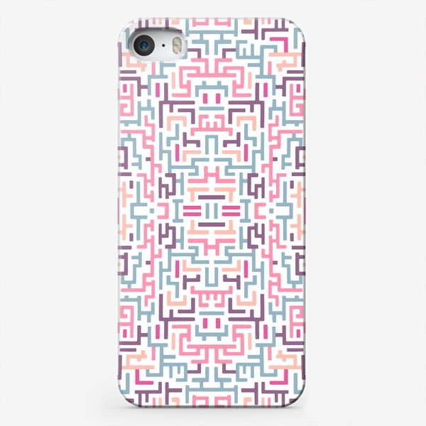 Чехол iPhone «Цветной лабиринт/паттерн»