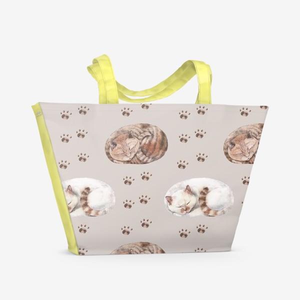 Пляжная сумка «котятки сладко спят»
