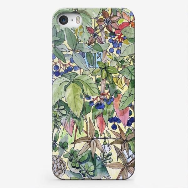 Чехол iPhone «Тропическая листва. Орнамент»