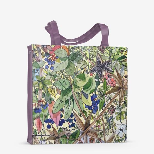 Сумка-шоппер «Тропическая листва. Орнамент»