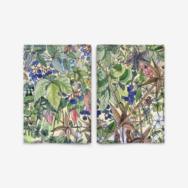 Обложка для паспорта «Тропическая листва. Орнамент»