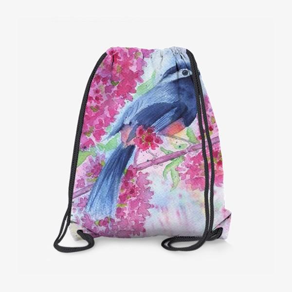 Рюкзак «Птица на цветущей ветке»