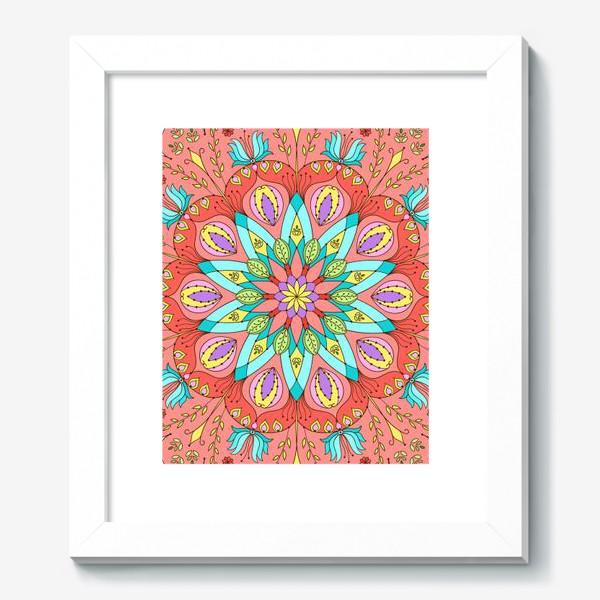 Картина «Цветочная мандала»