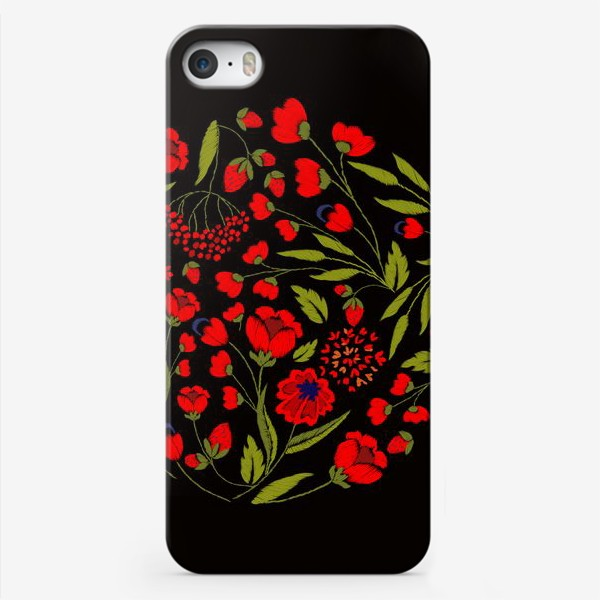 Чехол iPhone «floral embroidery»