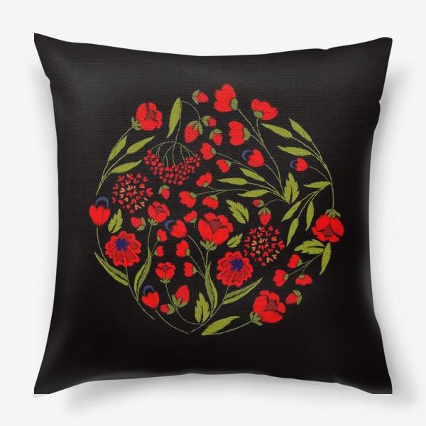 Подушка «floral embroidery»