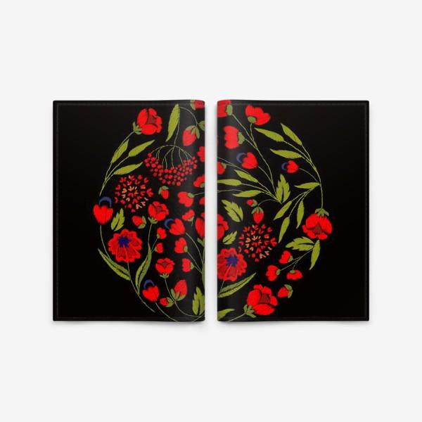 Обложка для паспорта «floral embroidery»