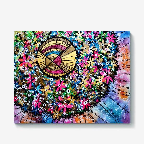 Холст «Солнце и цветы»