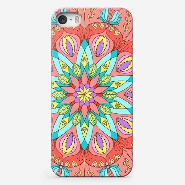 Чехол iPhone «Цветочная мандала»