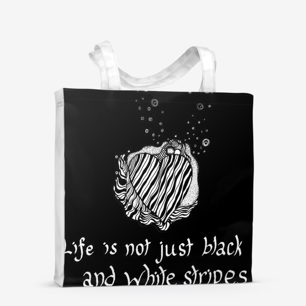 Сумка-шоппер «Life is not just black and white stripes»