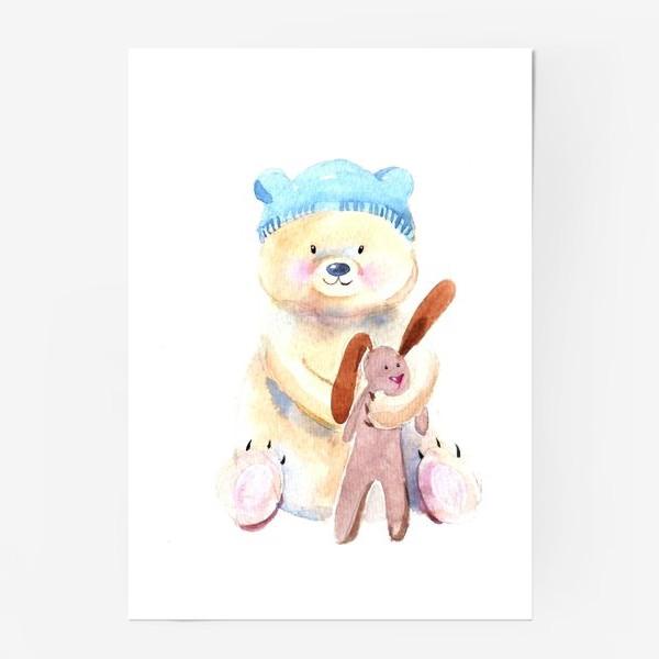Постер «Мишка с зайкой»