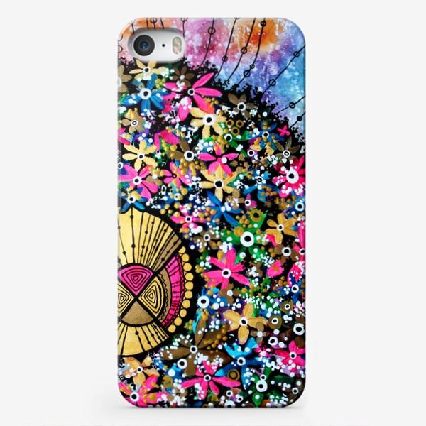 Чехол iPhone «Солнце и цветы»