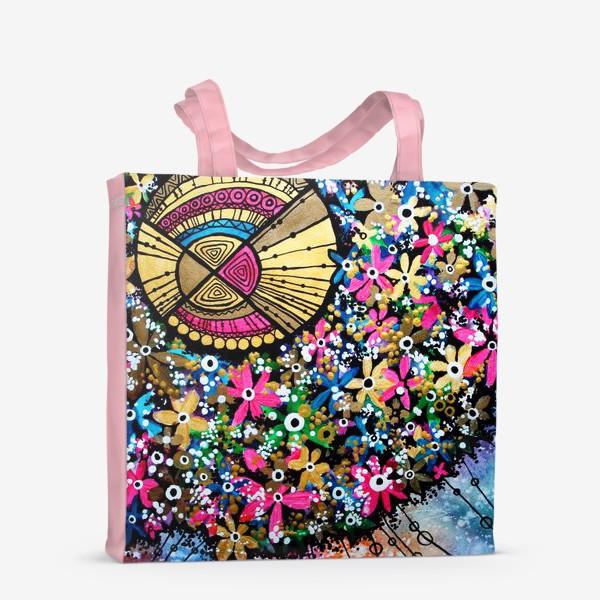 Сумка-шоппер «Солнце и цветы»
