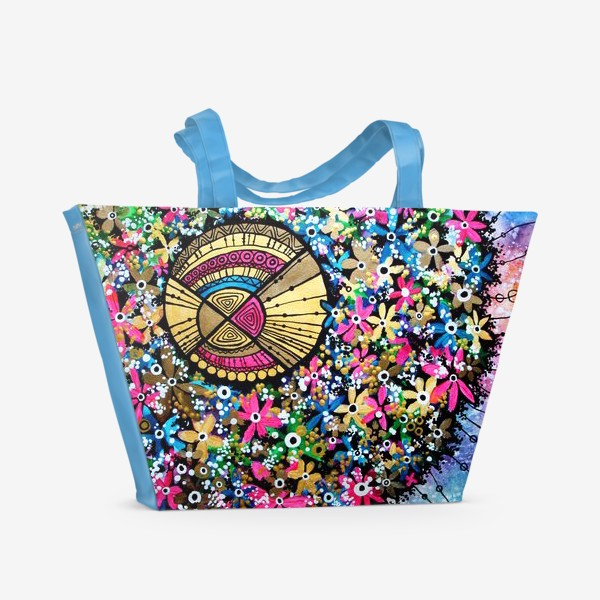 Пляжная сумка «Солнце и цветы»
