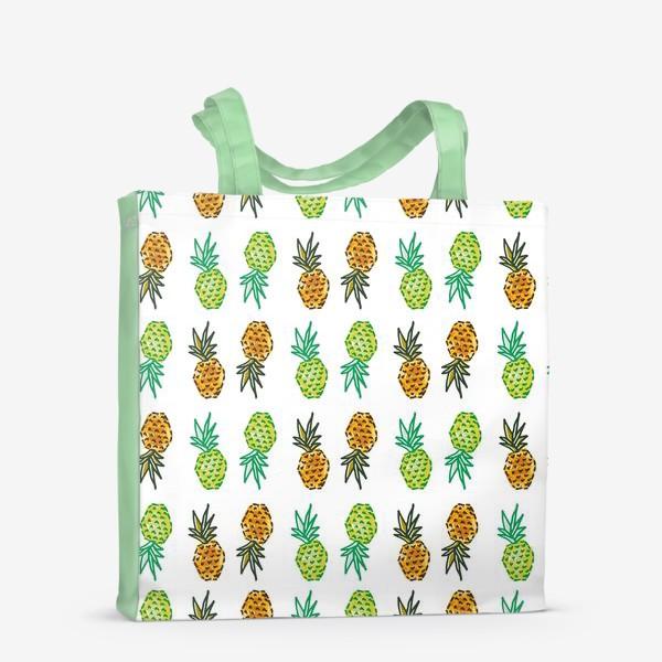 Сумка-шоппер «Паттерн Ананасы   Pineapples pattern»