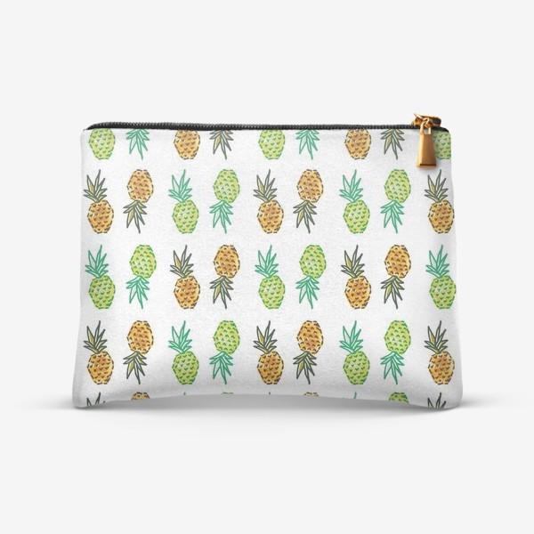 Косметичка «Паттерн Ананасы | Pineapples pattern»