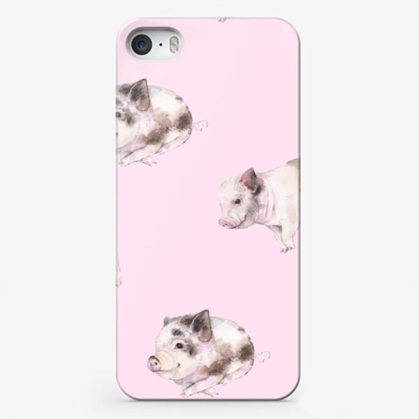 Чехол iPhone «хрюши розовые»