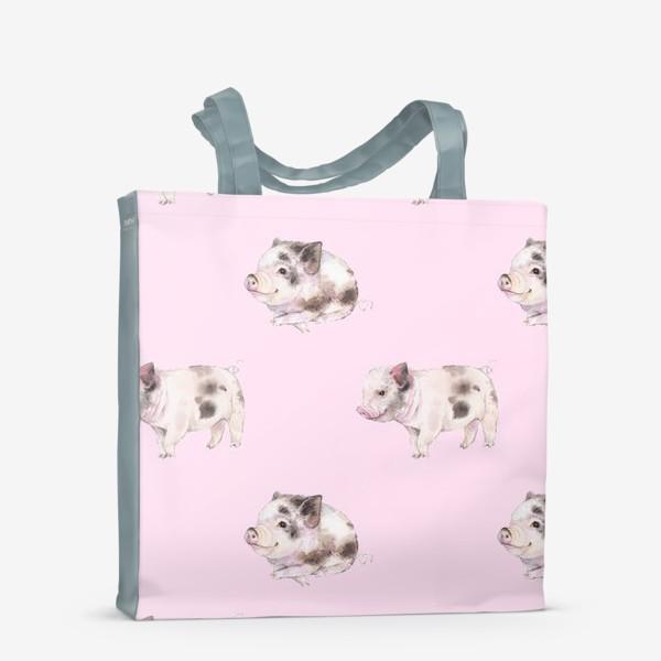 Сумка-шоппер «хрюши розовые»