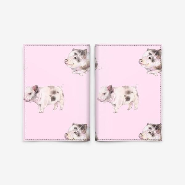 Обложка для паспорта «хрюши розовые»