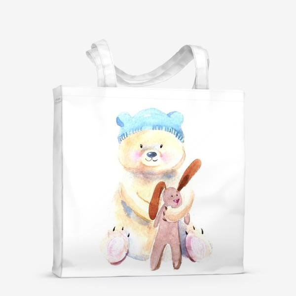 Сумка-шоппер «Мишка с зайкой»