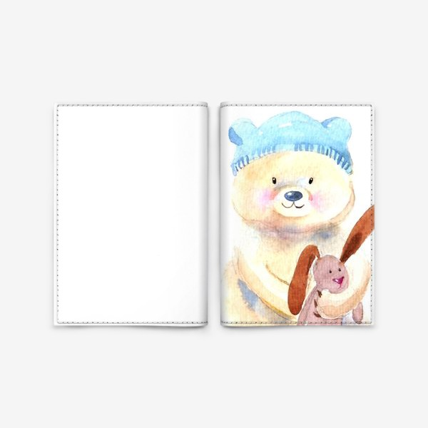 Обложка для паспорта «Мишка с зайкой»
