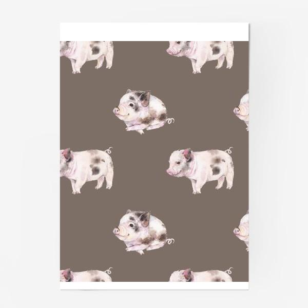 Постер «хрюшки в шоколаде»