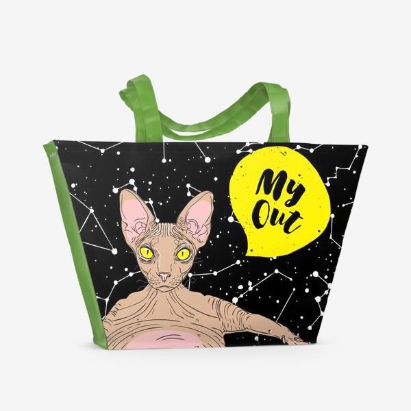Пляжная сумка «My Out Cat»