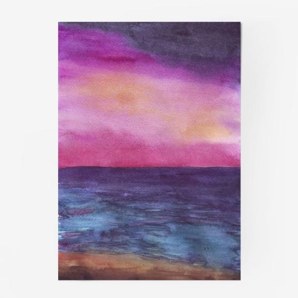 Постер «рассвет на море»