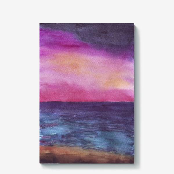 Холст «рассвет на море»