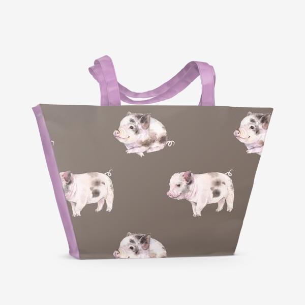 Пляжная сумка «хрюшки в шоколаде»