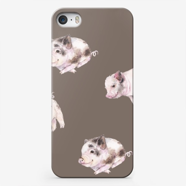 Чехол iPhone «хрюшки в шоколаде»