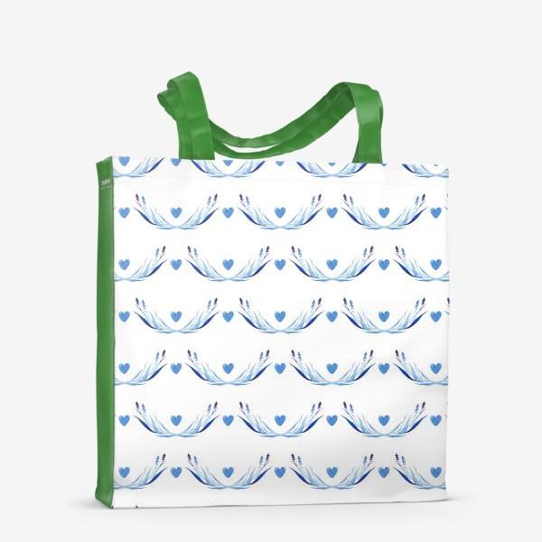 Сумка-шоппер «Голубые ветки акварель»