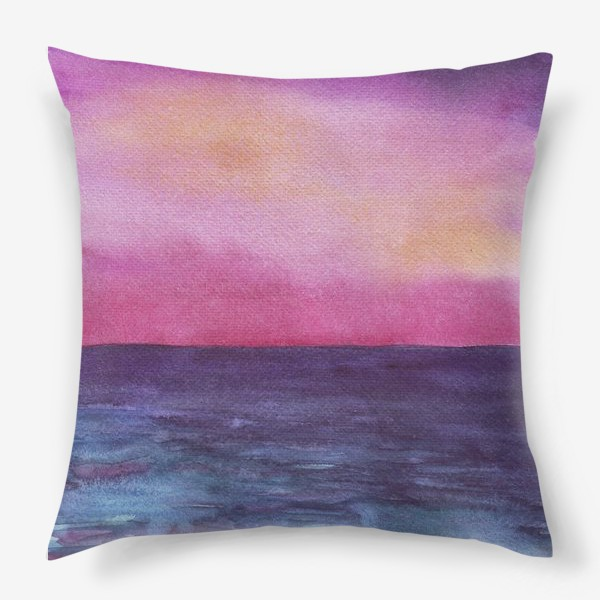 Подушка «рассвет на море»