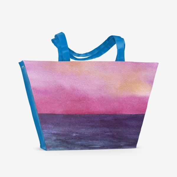 Пляжная сумка «рассвет на море»