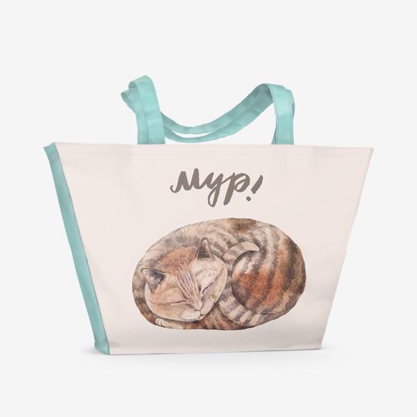 Пляжная сумка «котя2»