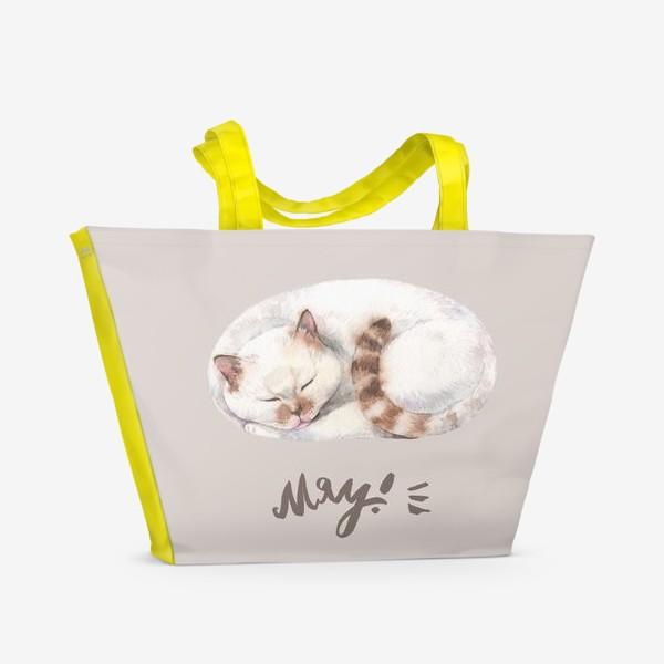 Пляжная сумка «котя белый»