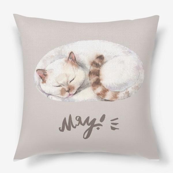 Подушка «котя белый»