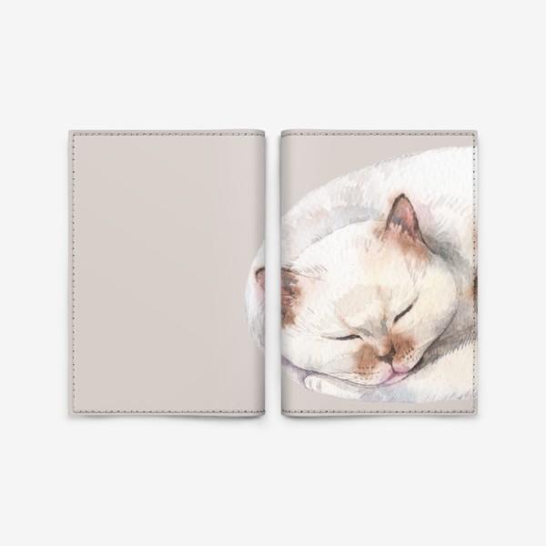 Обложка для паспорта «котя белый»