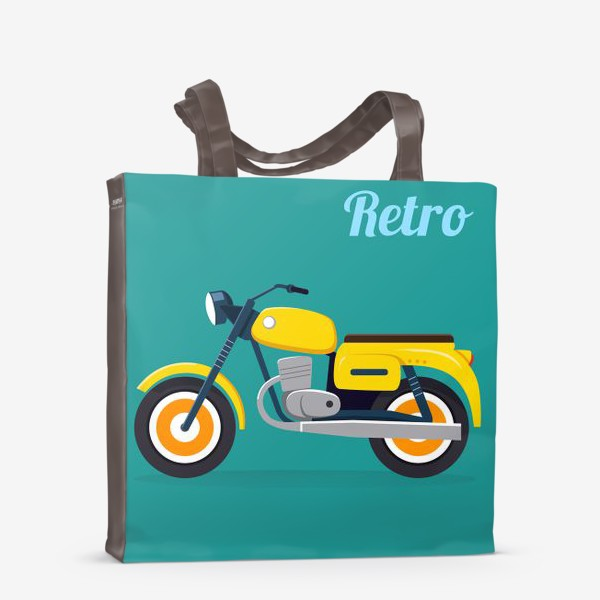 Сумка-шоппер «Ретро мотоцикл»